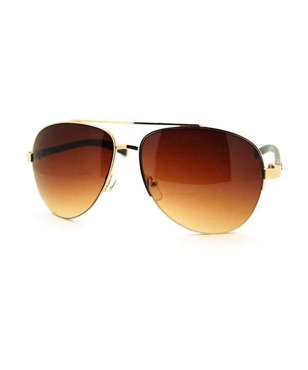 Fashion Rhinestone Aviator Sunglasses Tortoise