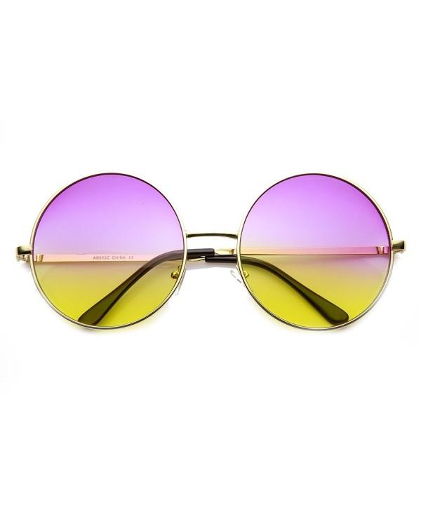 zeroUV Womens Oversized Sunglasses Purple Yellow Fade