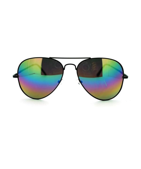 Mirror Police Motorcycle Aviator Sunglasses