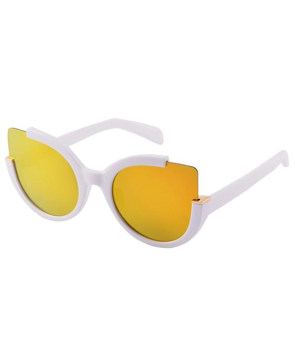 COASION Vintage Oversized Mirrored Sunglasses