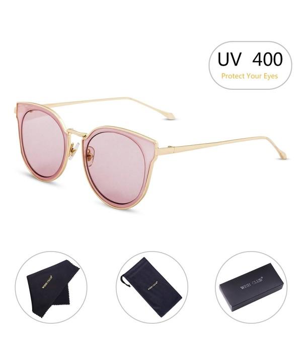 WISH CLUB Mirrored Fashion Sunglasses