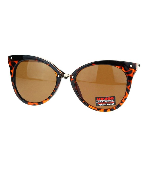 Womens Oversized Plastic Sunglasses Tortoise