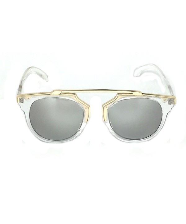 WebDeals Mirrored Designer Crossbar Sunglasses