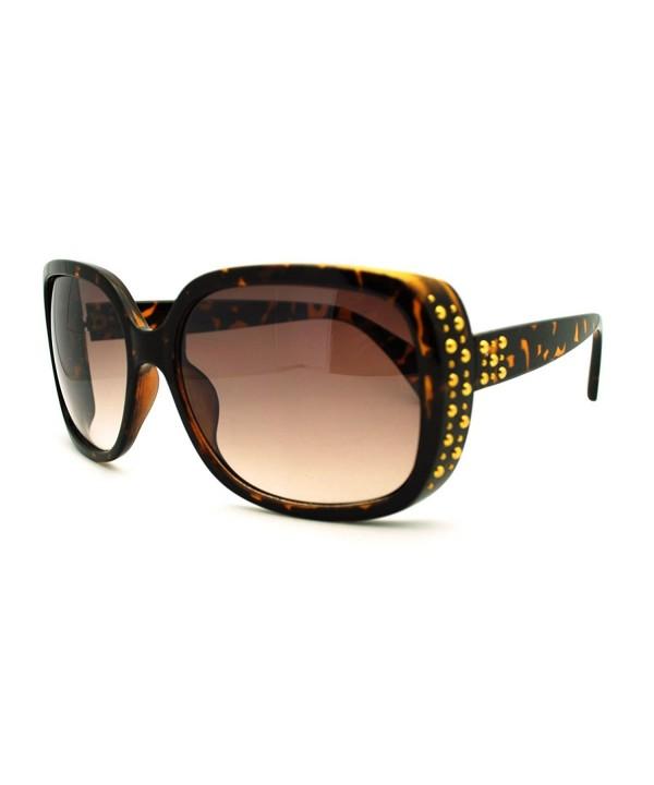 Womens Classy Square Sunglasses Tortoise