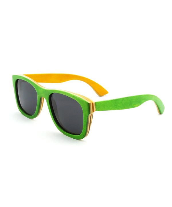 Polarized Sunglasses Wayfarer Case Z68004n GREEN ORANGE