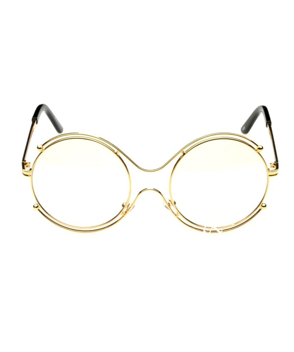 Oversize Clear Glasses Circle Double