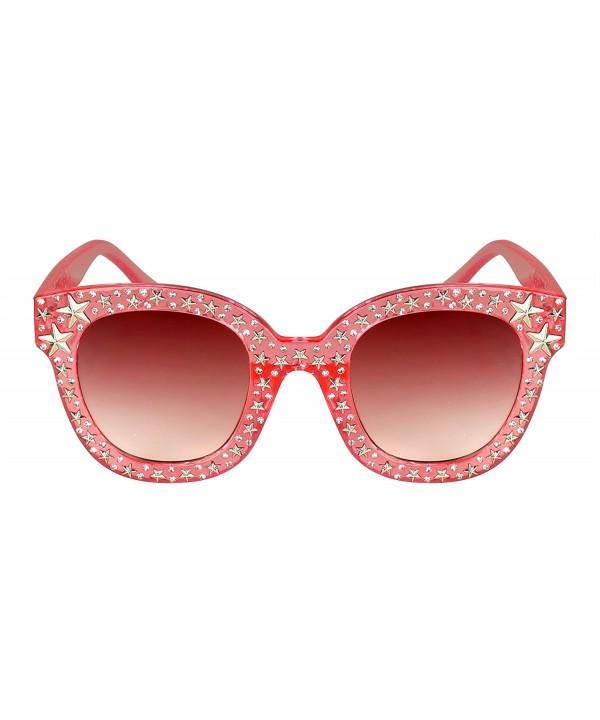 Edge I Wear Round shaped Rhinestone Sunglasses ECS700R FLREV 7