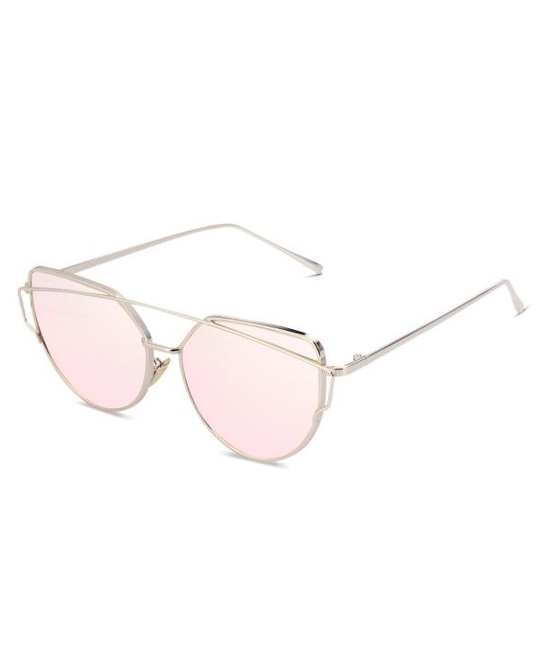 SUASI Sunglasses Vintage Reflective Rimless