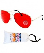 A67 vp Aviator Colored Sunglasses Gold Red