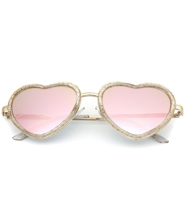 SUNGLASSES LUXE Shaped Glitter Mirrored