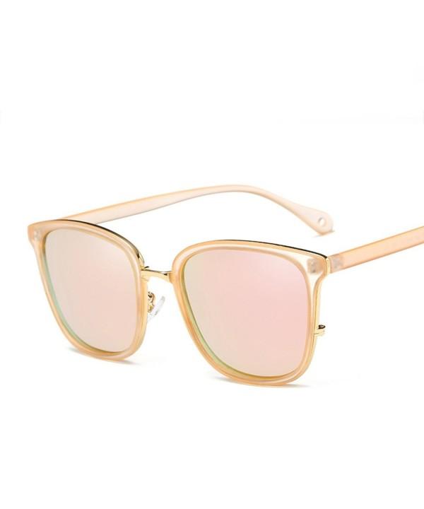 HOHAUSA Mirrored Polarized Wayfarer Sunglasses