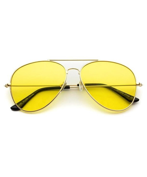 Classic Aviator Sunglasses Colored Yellow