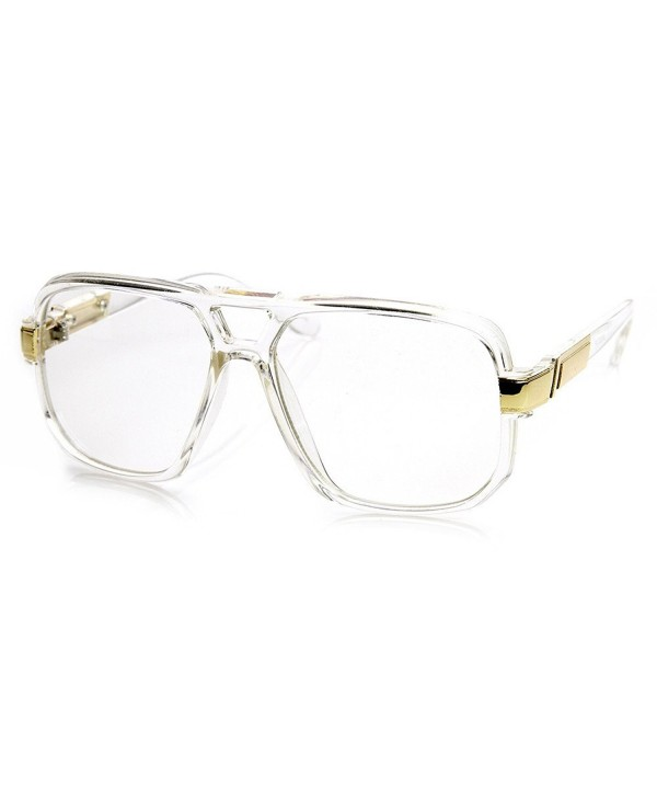 Classic Square Plastic Aviator Glasses