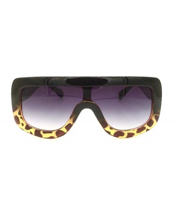 Oversized Shield Designer Celebrity Sunglasses