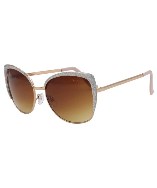 VIVIENFANG Semi Rimless Oversized Sunglasses 86447C