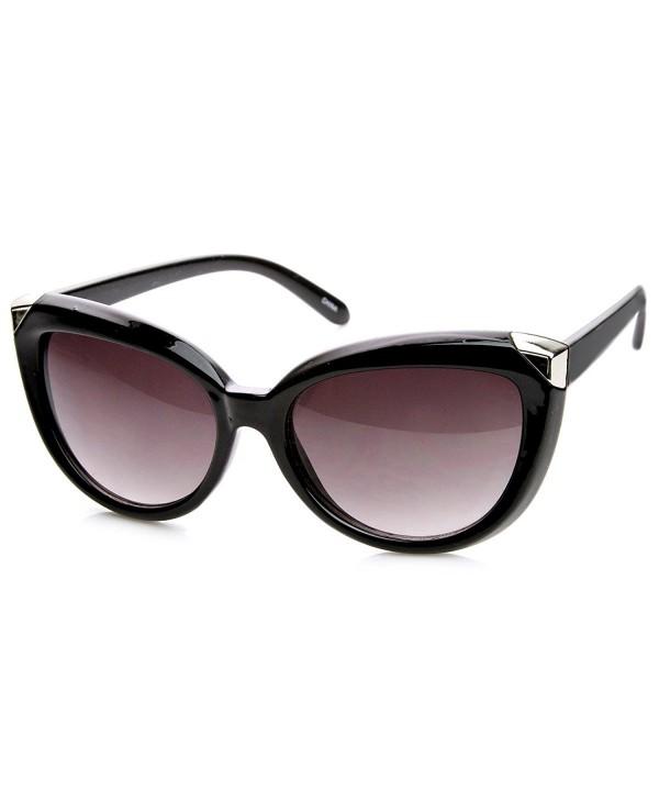 zeroUV Oversized Sunglasses Black Silver Lavender