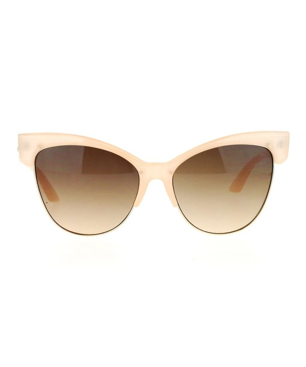 SA106 Womens Retro Sunglasses Beige