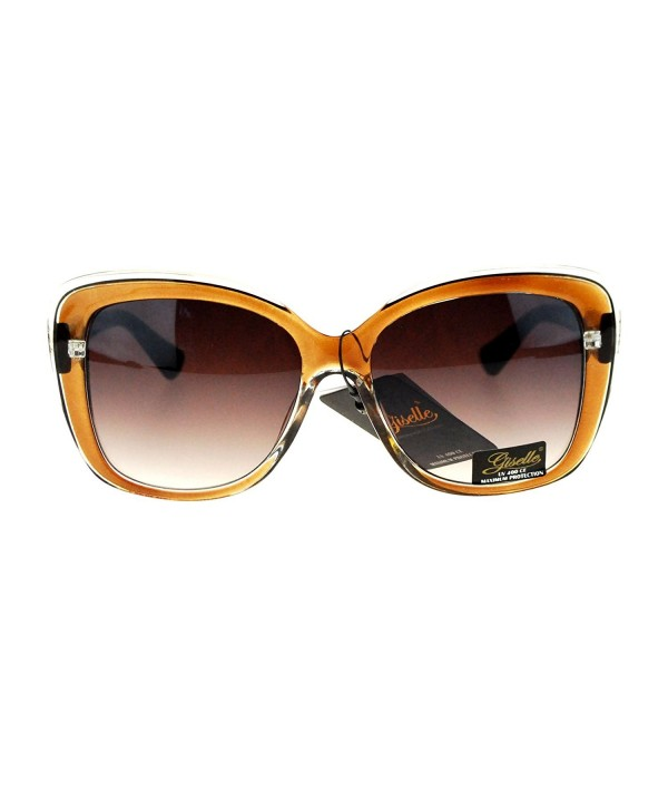 Giselle Rectangular Plastic Butterfly Sunglasses