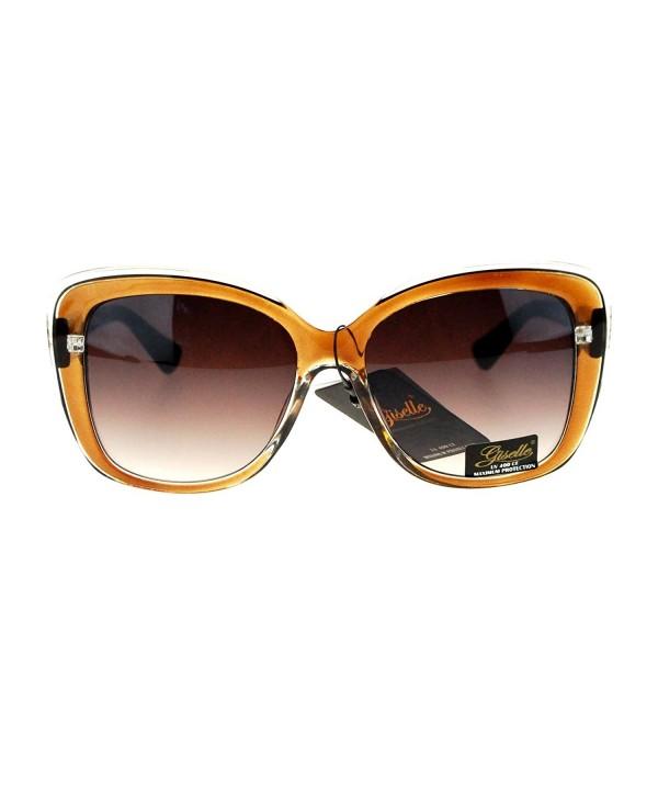 Giselle Rectangular Plastic Butterfly Sunglasses