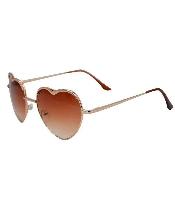 Heart Shape Sunglasses Aviator Metal