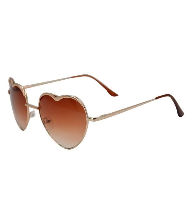 Heart Shape Sunglasses Aviator Metal