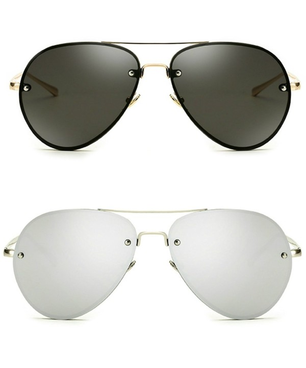 Oversize Vintage Aviator Sunglasses Mirror