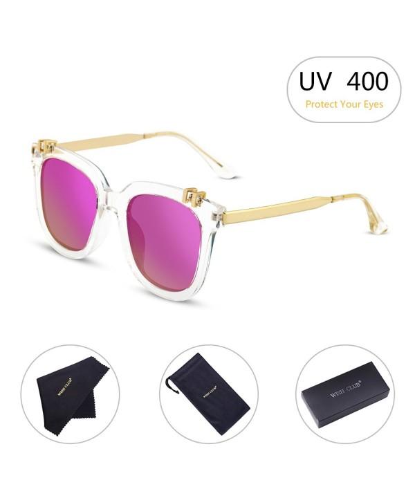 WISH CLUB Polarized Sunglasses Mirrored