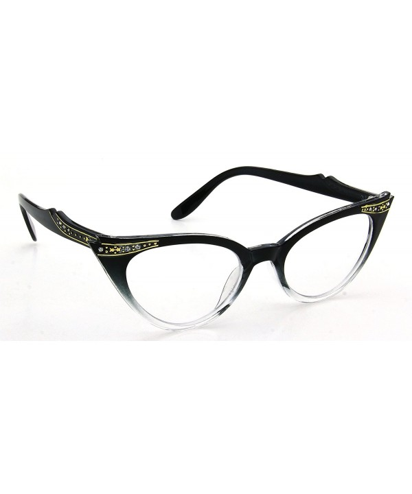 Clear Glasses Rhinestones Womens Fashion