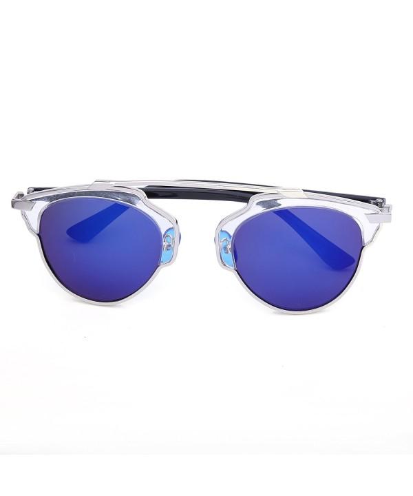 Semi-rimless sunglasses