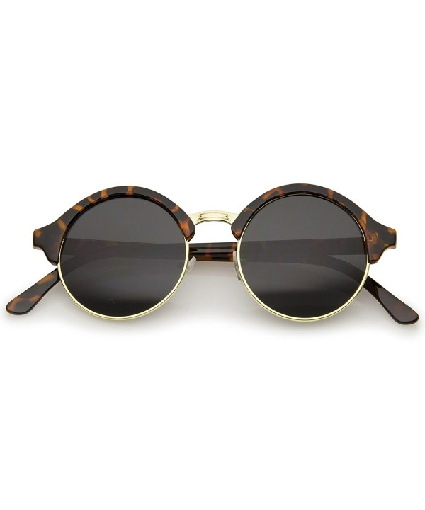 zeroUV Inspired Semi Rimless Sunglasses Tortoise Gold