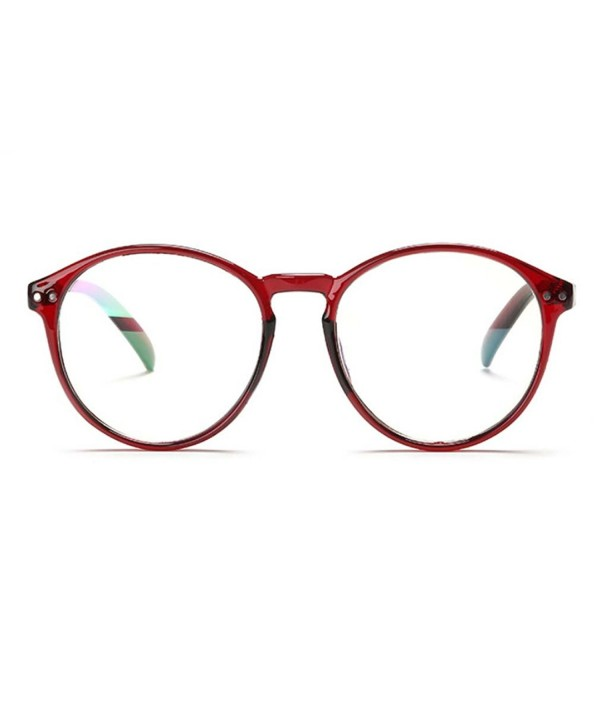 Womens Fashion Rimmed Circle Glasses