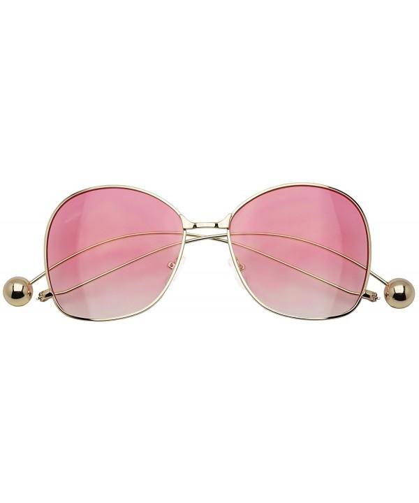 Oversized Elegant Gradient Oceanic Sunglasses