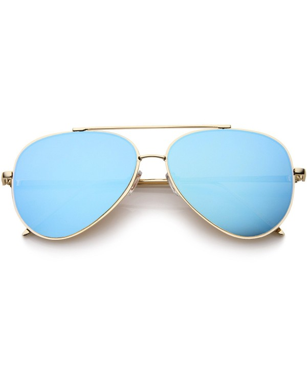 Lensiz Mirrored Aviator Sunglasses Teardrop