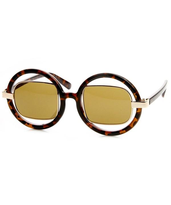 zeroUV Oversized Fashion Sunglasses Tortoise Gold
