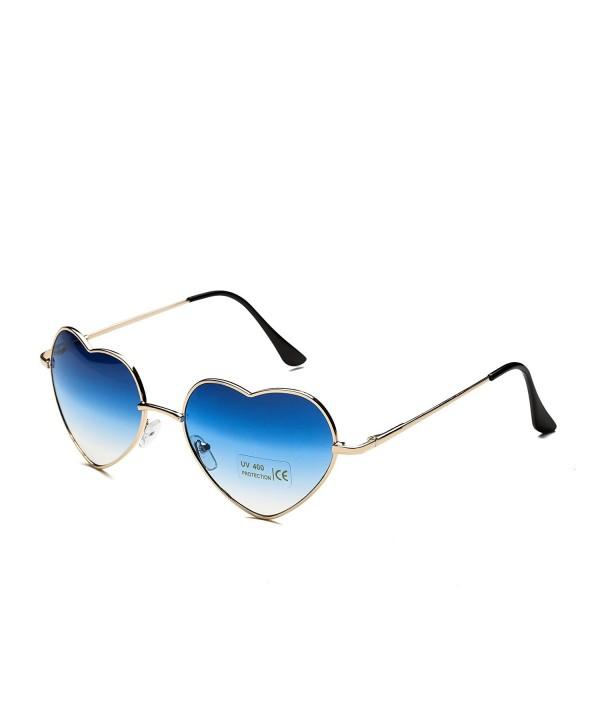 Dollger Heart Sunglasses Women Metal