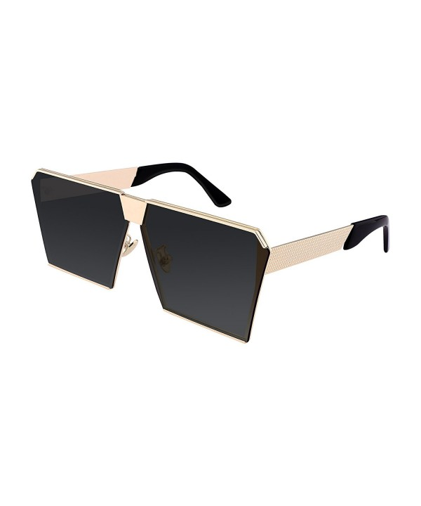 FEISEDY Square Mirrored Sunglasses Oversize