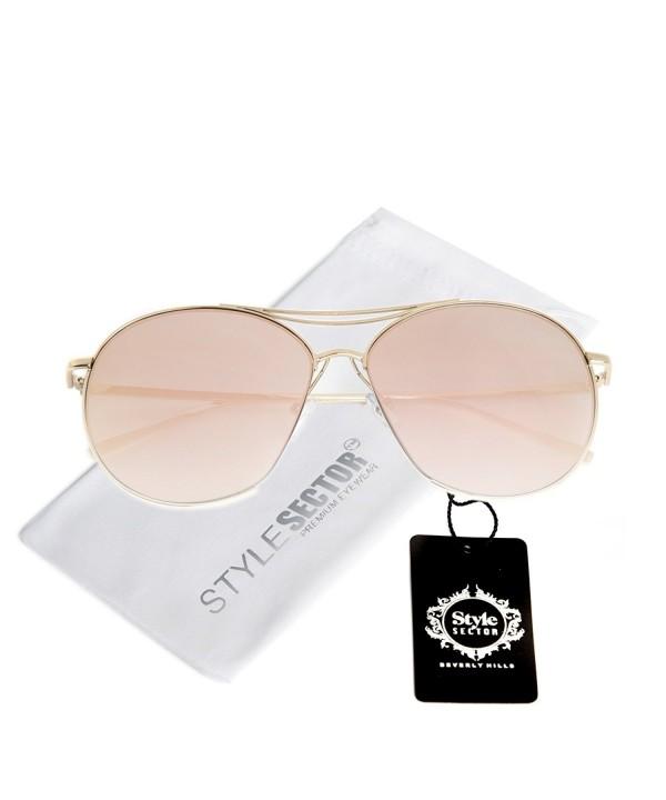 Oversized Aviator Mirror Sunglasses Women