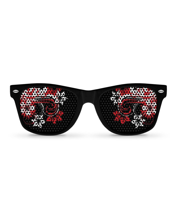 GEISHA Black Retro Party Sunglasses