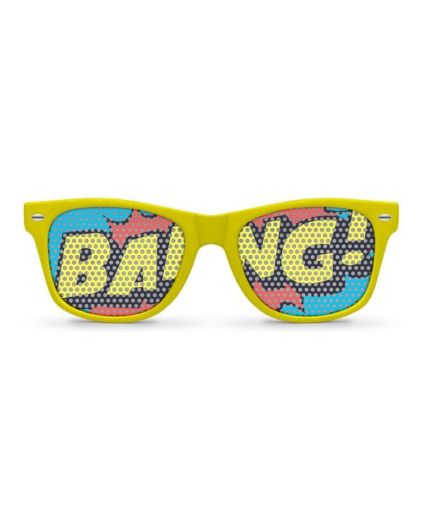 BANG Yellow Retro Party Sunglasses