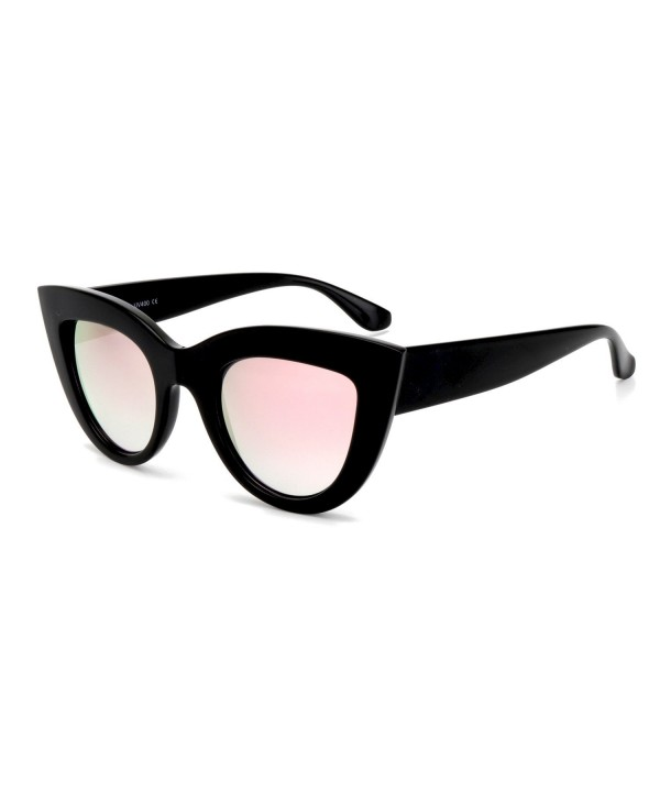 ROYAL GIRL Sunglasses Mirrored Black Pink