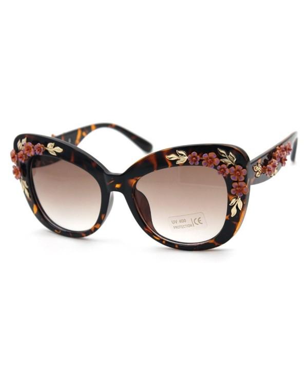 Flowertree S4230B2 Plastic Embellished Sunglasses