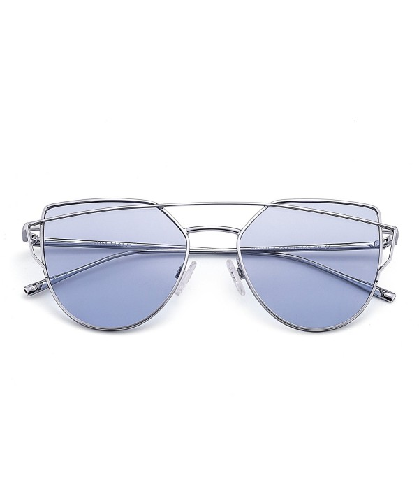 Sunglasses Oversized Mirrored Silver Transparent