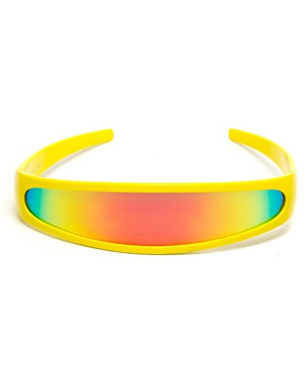 Futuristic Narrow Cyclops Mirrored Sunglasses