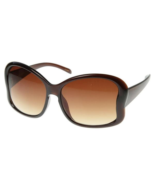 zeroUV Glamourous Oversized Butterfly Sunglasses