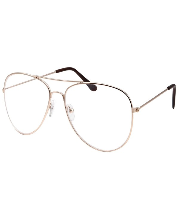 Fashion Aviator Glasses Oversized Non Prescription