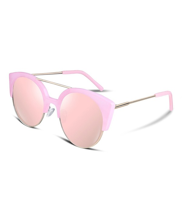 FEISEDY Fashion Mirrored Sunglasses Women
