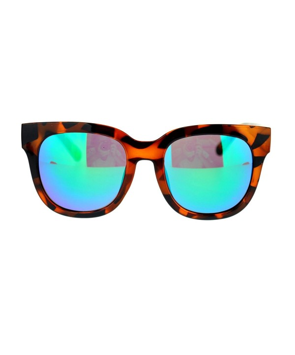 Womens Boyfriend mirrored Sunglasses Tortoise