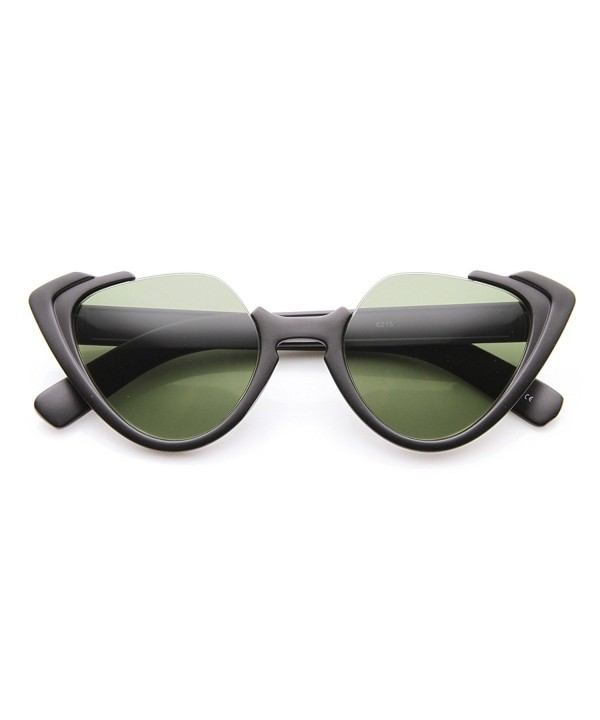 zeroUV Fashion Semi Rimless Sunglasses Matte Black