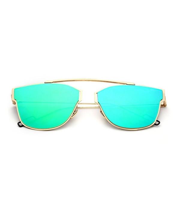 PenSee Womens Modern Mirror Sunglasses