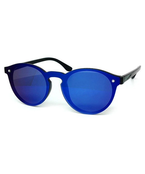O2 Wraparound Rimlesshield Mirrored Sunglasses